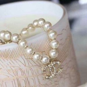 CHANEL Jewelry - Authentic CHANEL Classic CC Crystal Pearl Bracelet